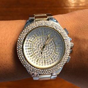 bebe embellished watch.